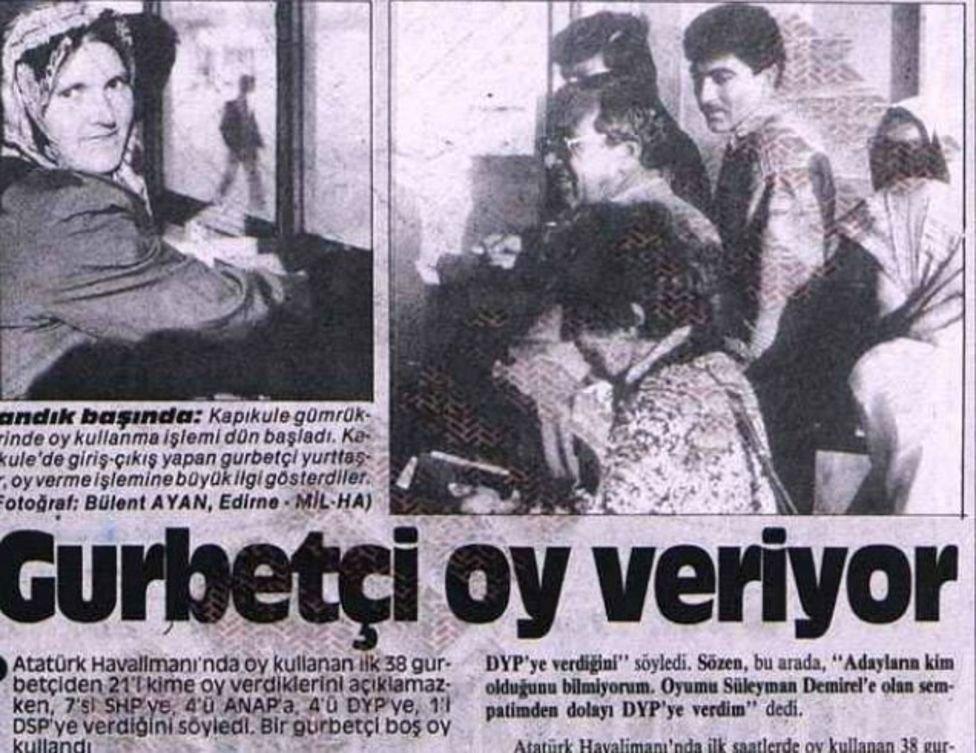1987 seçim atatürk havalimanı